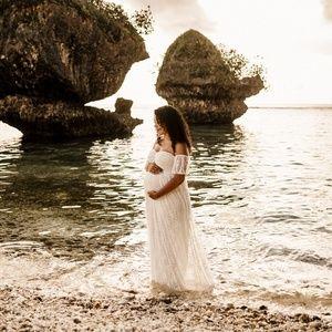 Lace Maternity Dress Medium